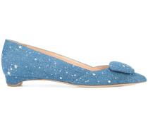 Ballerinas mit Farbklecks-Print