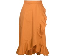 ruffle-wrap skirt