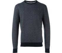 Wollsweatshirt mit kontrastfarbigen Bündchen