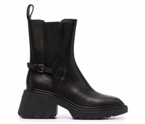 Oxford ridged leather boots