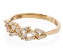 18kt 'Cluster' Goldring mit Diamanten