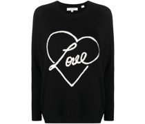 Love Intarsien-Pullover