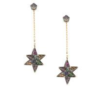 'Merkaba & Cone Dress' Gelbgold-Ohrstecker mit Diamanten