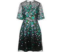 scattered flower fit and flare dress
