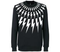 Sweatshirt mit Blitzmotiven