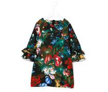Florales Kleid mit Rüschendetail