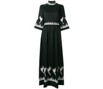 bird embellished maxi dress
