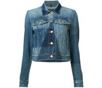 Jeansjacke im Patchwork-Stil