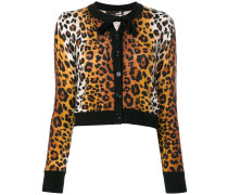 Cardigan mit Leoparden-Print