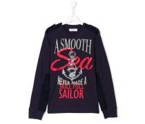 Teen nautical print sweatshirt