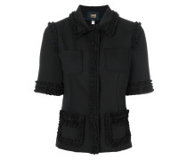 shortsleeved ruffle jacket