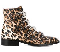 Stiefel mit Leopardenmuster