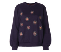 sun embroidered sweatshirt