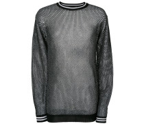 honeycomb-knit sweater