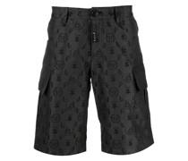 Cargo-Shorts mit Jacquard-Monogramm