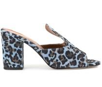 Pantoletten mit Leoparden-Print