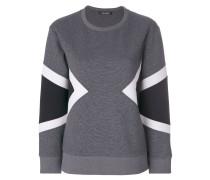 Sweatshirt mit geometrischen Einsätzen