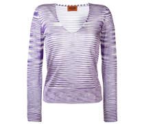V-neck knitted blouse