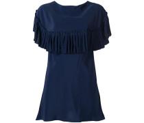 pleated trim blouse