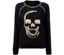 Sweatshirt mit verziertem Totenkopf