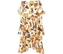 printed saloon ruffle skirt