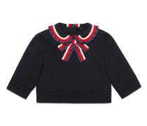 Sweatshirt mit Webborten