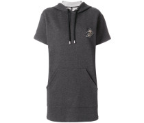 logo patch hooded dress