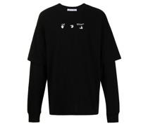 Marker Arrows layered T-shirt