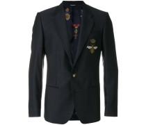 embellished bee appliqué blazer