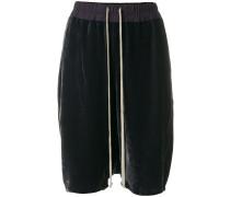 drawstring velvet shorts