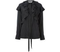 pinstripe ruffle shirt