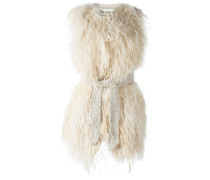 ostrich feather vest
