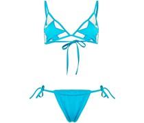 star-patch triangle-top bikini set