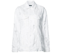 - distressed denim shirt - women - Baumwolle - L