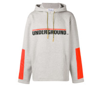 Underground print hoodie