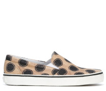 Gepunktete Slip-On-Sneakers - women