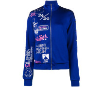 all-over print track top