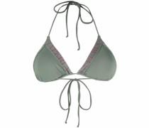 Triangel-Bikini mit Logo-Print