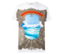 T-Shirt mit barokem Print