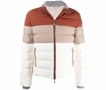Gefütterte Jacke in Colour-Block-Optik