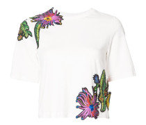 T-Shirt mit floralen Stickereien - women
