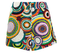 Pailletten-Shorts mit Kreismuster
