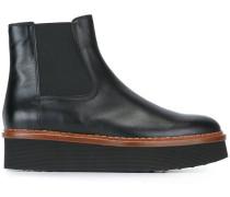 Flatform-Stiefel aus Leder