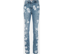 Jeans mit Spitzenapplikationen - women