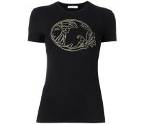 T-Shirt mit Logo-Verzierung