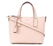 Handtasche mit gestreiftem Futter
