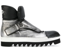 Rocco P. metallic monk strap boots