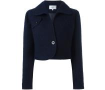 Cropped-Jacke aus Schurwollgemisch - women