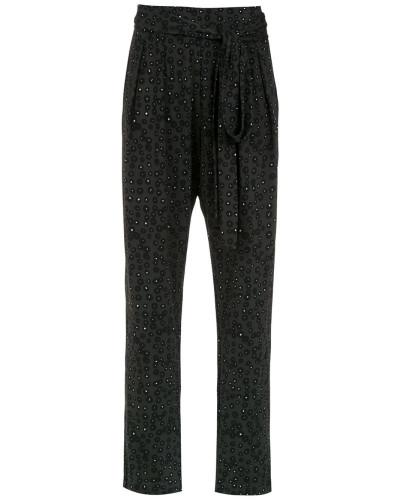 belted printed pants