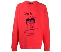 "Sweatshirt mit ""Love is...""-Print"